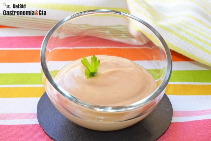 Salsa rosa para dieta