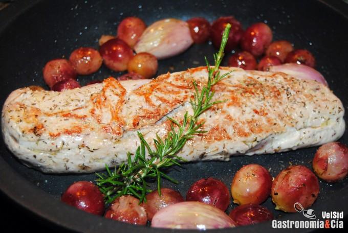 Receta de solomillo de cerdo con salsa de vino
