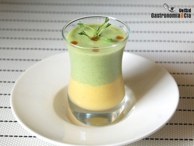Sopa de pepino y maíz dulce