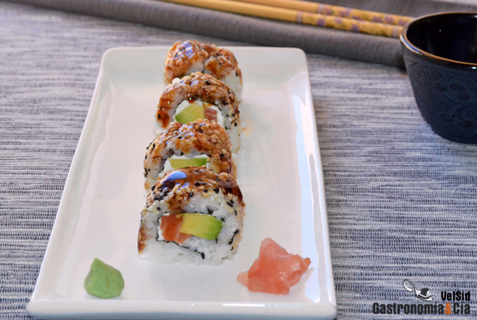 City Roll, receta de maki sushi invertido