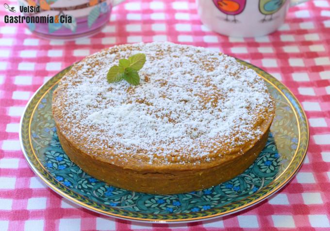 Tarta de boniato sin azúcar para hacer en el microondas