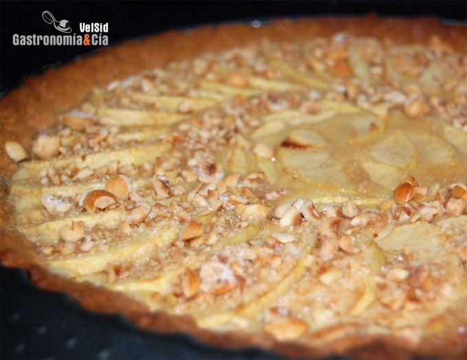 Tarta de manzana y frangipane