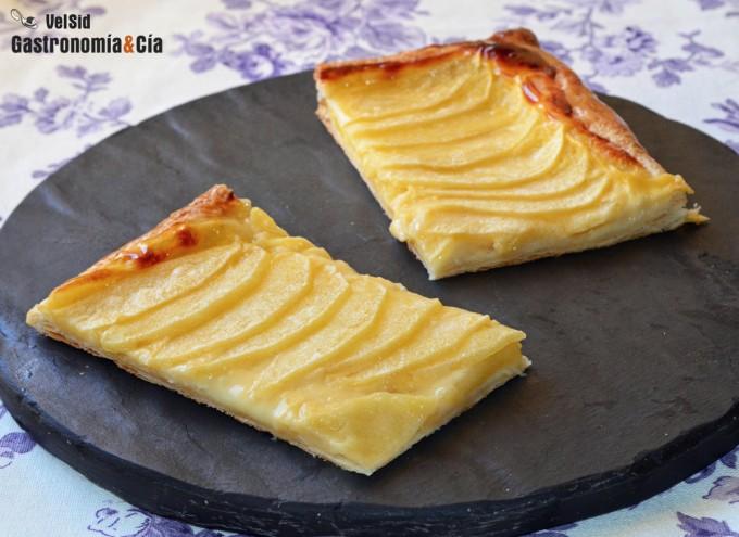 Cómo hacer tarta de manzana con natillas