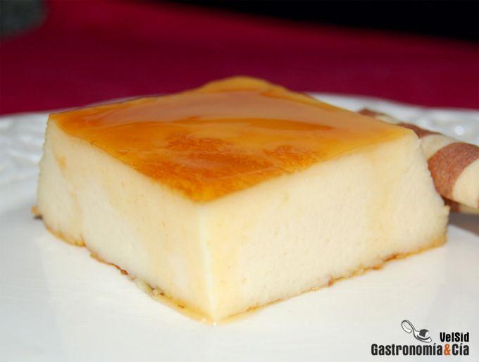 Tarta de queso con caramelo