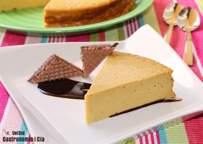 Tarta de queso y toffee
