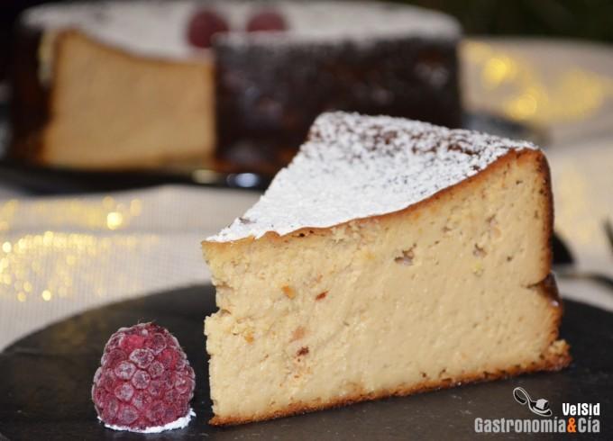 Tarta de queso y turrón de Jijona