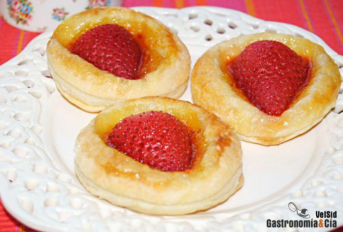 Tartaleta de fresas con mermelada de naranja