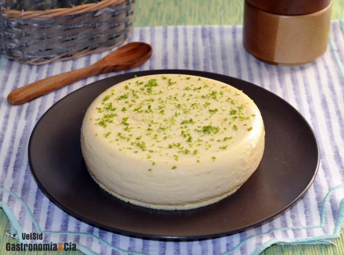 Tarta de queso, piña y bergamota en microondas, una rec