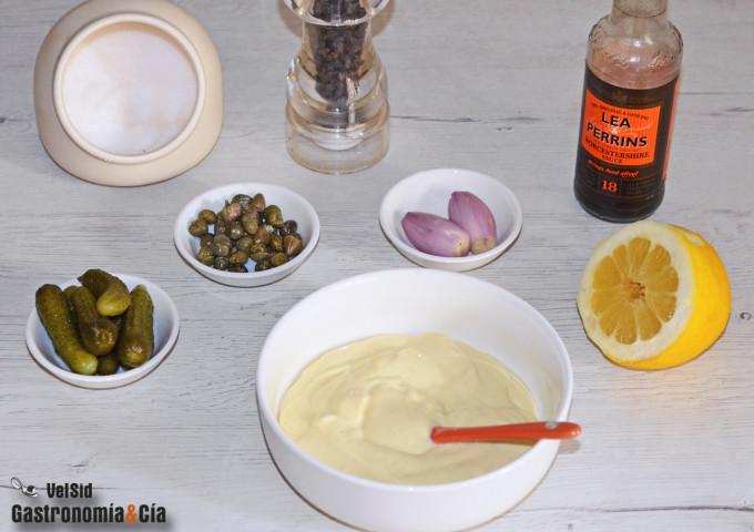 Salsa tártara baja en grasas