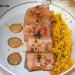 Atún marinado en soja y naranja con cuscús y mahonesa d
