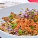 Champiñones salteados con revuelto de tofu y cebolla ch