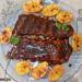Costillas de cerdo al horno con glaseado de bourbon y m