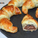 Croissants de chocolate con dos ingredientes