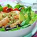 Ensalada de verdinas, gambas y espinacas