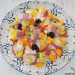 Ensalada de endibias, anguila ahumada y nectarina