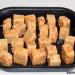 Ensalada de tofu marinado con salsa de soja