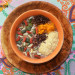 Porridge de chocolate y naranja con semillas