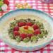 Porridge con fruta de la pasión y frambuesas