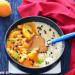 Porridge con albaricoques y almendras