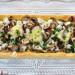 Tarta de hojaldre con champiñones, tomates secos y rico