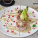 Medallones de solomillo de cerdo con panceta, macadamia