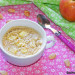 Mug cake de almendra con manzana