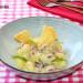 Gnocchi con salsa cremosa de nata y jamón