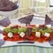 Ensalada de pimientos asados con queso fresco de cabra,