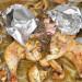 Pollo mariposa al horno, con champiñones y especias bah