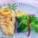 Pechuga de pollo con romero, ajo y limón encurtido