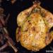 Pollo al horno con tomillo, salsa de soja y limón