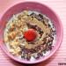 Porridge con chocolate y avellanas