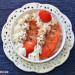 Porridge de fresas con nata