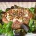 Champiñones Portobello rellenos de queso feta y jamón