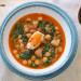 Potaje de garbanzos, bacalao y espinacas para Semana Sa