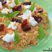 Quinoa con tomates secos, ricotta y albahaca