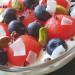 Sandía, arándanos y pistacho con yogur griego