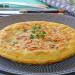 Tortilla de bacalao con pimiento verde