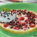 Tortilla dulce con fresas y queso fresco