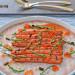 Zanahorias baby a la parrilla con salicornia, huevas de