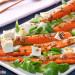 Zanahorias a la parrilla con requesón y vinagreta de se