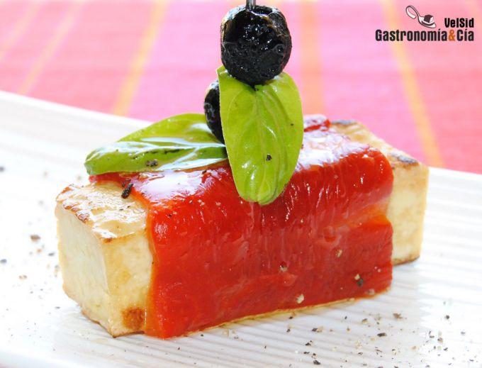Cocina y vino tofu ahumado con pimiento asado y albahaca - Como se cocina el tofu ...