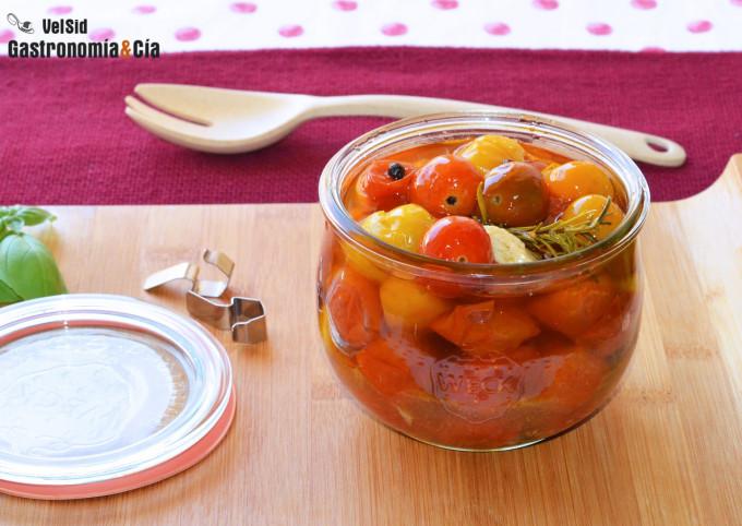 Cómo hacer tomates cherry confitados