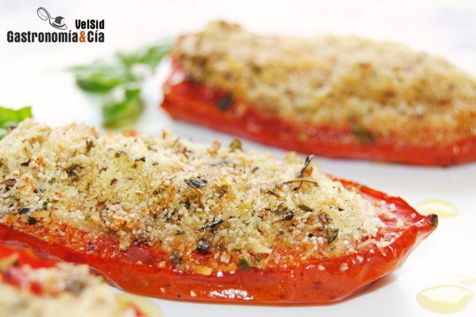 Tomates al horno con parmesano