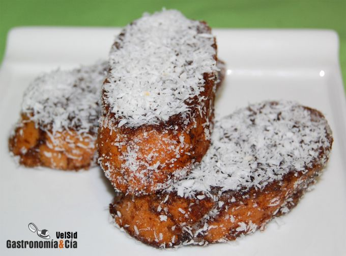 Torrijas de chocolate