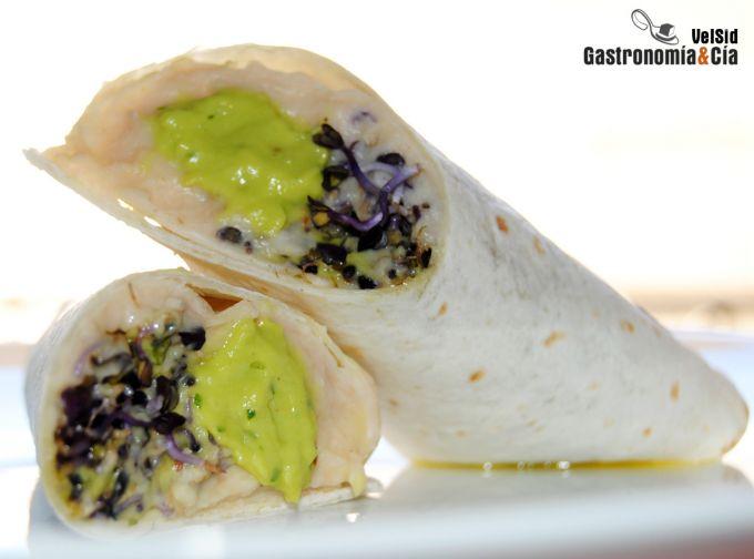 Tortilla Wrap de aguacate y alubias blancas