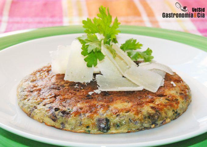 Receta de tortilla con cebolla, jengibre y cilantro