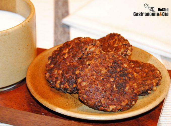 Tortitas de cereales de chocolate y frutos secos al whi