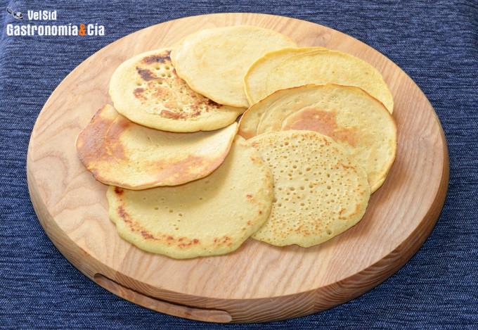 Tortitas con harina de garbanzos