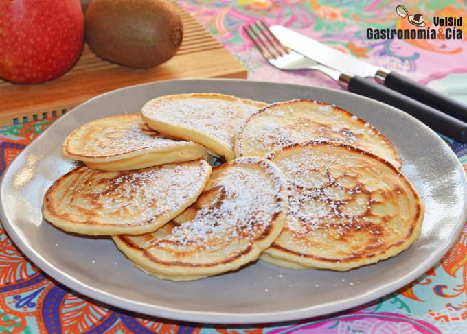 Pancakes o tortitas rellenas de Nutella, la receta más